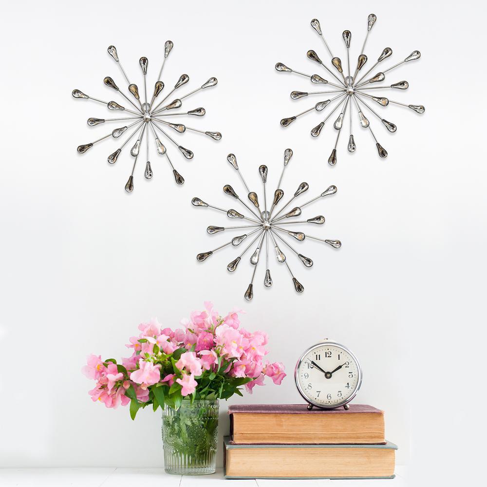 Acrylic Burst Wall Decor (Set of 3)