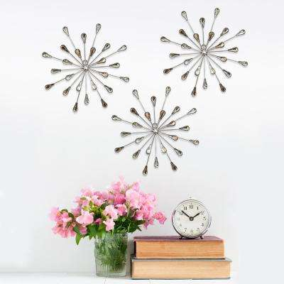 Acrylic Burst Wall Decor (Set of 3)