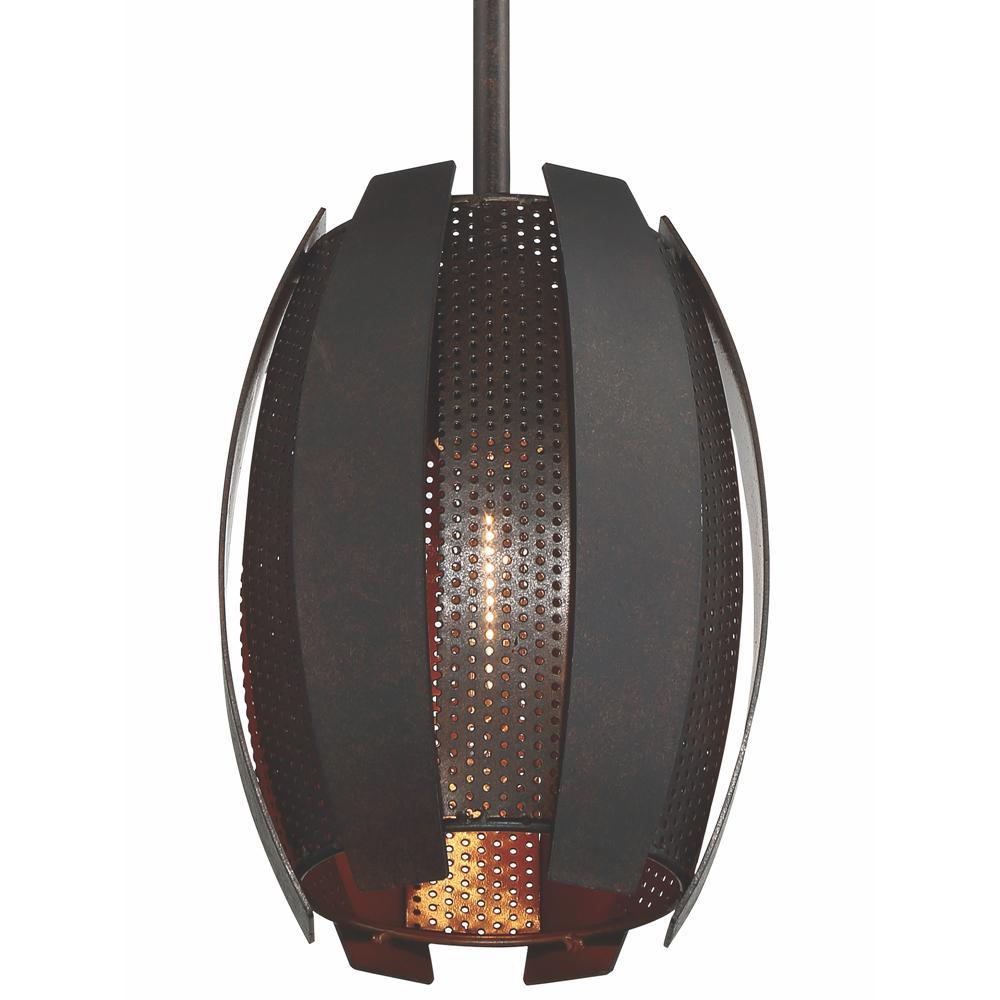 Sawyer's Bar 1-Light Two-Tone Copper Ore Mini Pendant