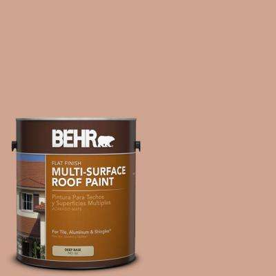 1 gal. #RP-22 Antique Adobe Flat Multi-Surface Exterior Roof Paint