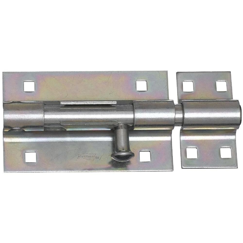 National Hardware 5 in. Extra Heavy Barrel Bolt in Zinc Plate