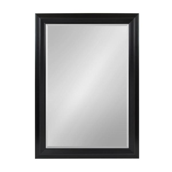 Large Rectangle Black Beveled Glass Contemporary Mirror (41.63 in. H x 29.63 in. W)