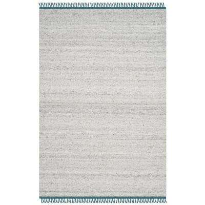 Kilim Gray/Ivory 4 ft. x 6 ft. Area Rug