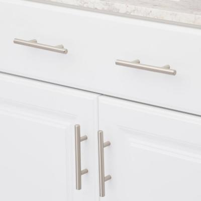 European Style 3 in. (76 mm) Center-to-Center Satin Nickel Bar Cabinet Pull (25-Pack)