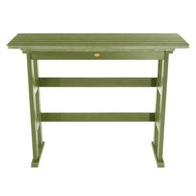Lehigh Dried Sage Rectangular Recycled Plastic Outdoor Bar Height Dining Table