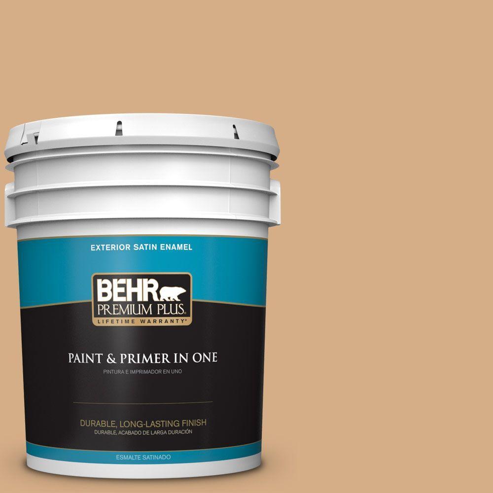 5-gal. #BXC-67 Santa Fe Tan Satin Enamel Exterior Paint