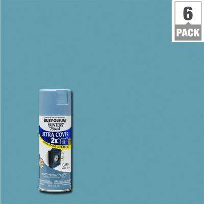 12 oz. Satin Slate Blue General Purpose Spray Paint (6-Pack)