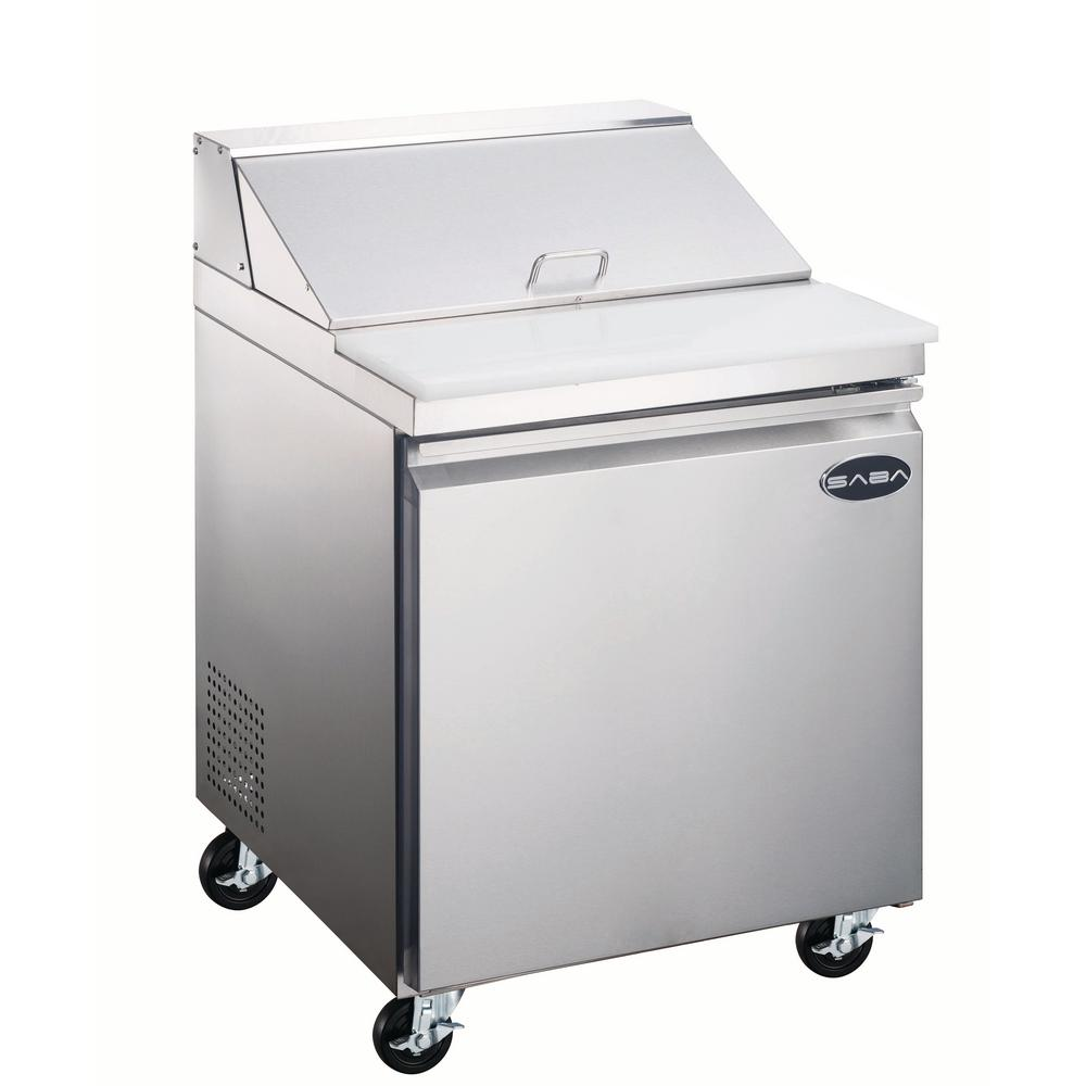 SABA In W Cu Ft Commercial Food Prep Table Refrigerator - Commercial prep table refrigerator