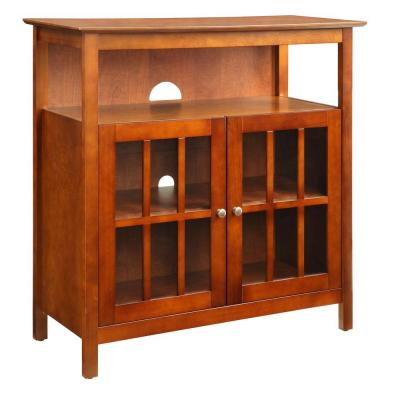 36 in. Cherry Wood TV Stand 42 in. with Doors