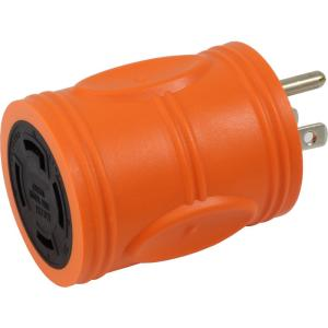 AC WORKS Locking Adapter Household Plug 15 Amp NEMA 5-15P to 4-Prong 30 Amp... by AC WORKS