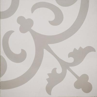 Cementine Ashby White 8 in. x 8 in. Durabody Ceramic Floor and Wall Tile (10.76 sq. ft. / case)