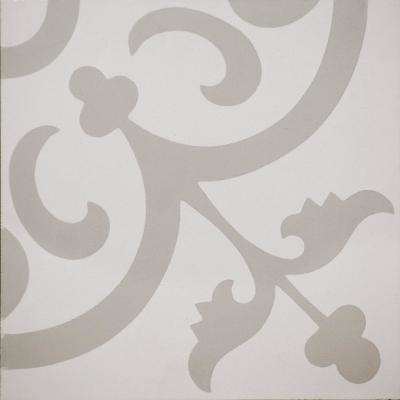 Cementine Ashby White 8 in. x 8 in. Ceramic Floor and Wall Tile (10.76 sq. ft. / case)