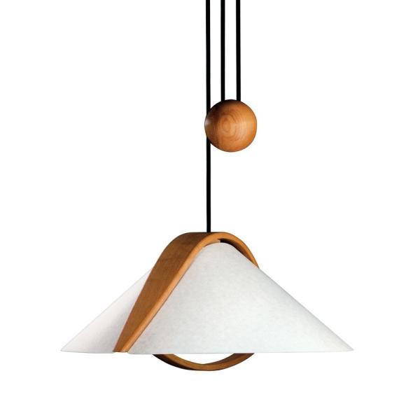 Domus 2-Light Brown Pendant with Translucent Shade
