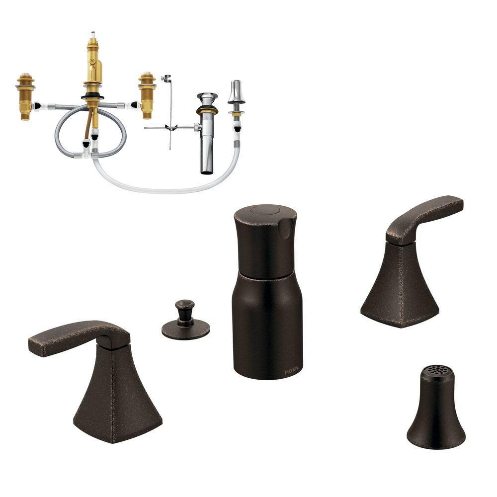 Faucet Handles And Trim Moen Handles: MOEN Voss 2-Handle Bidet Faucet Trim Kit With Valve In Oil