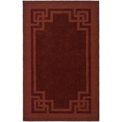 Deco Frame Vermillon 8 ft. x 10 ft. Area Rug