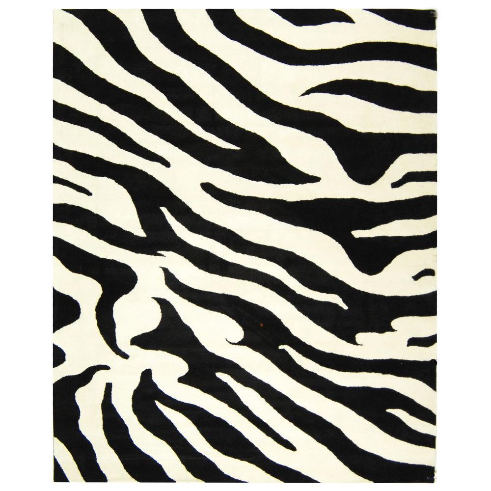Safavieh Soho White/Black 5 ft. x 8 ft. Area Rug