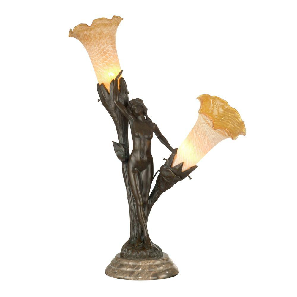 Dale Tiffany Floral Lady Art Glass Accent Lamp-DISCONTINUED