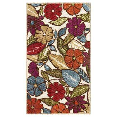 Flowers Multi 2 ft. x 4 ft. Area Rug