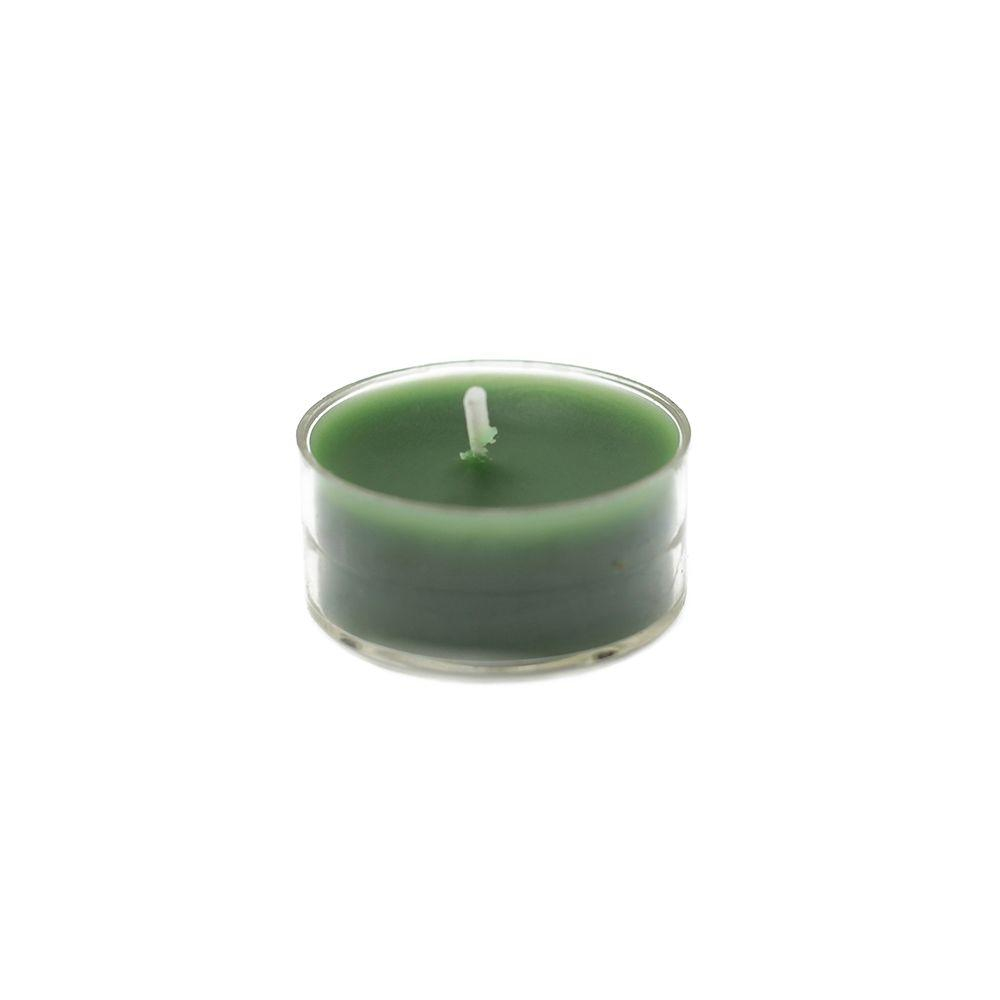 1.5 in. Hunter Green Tealight Candles (50-Pack), Greens