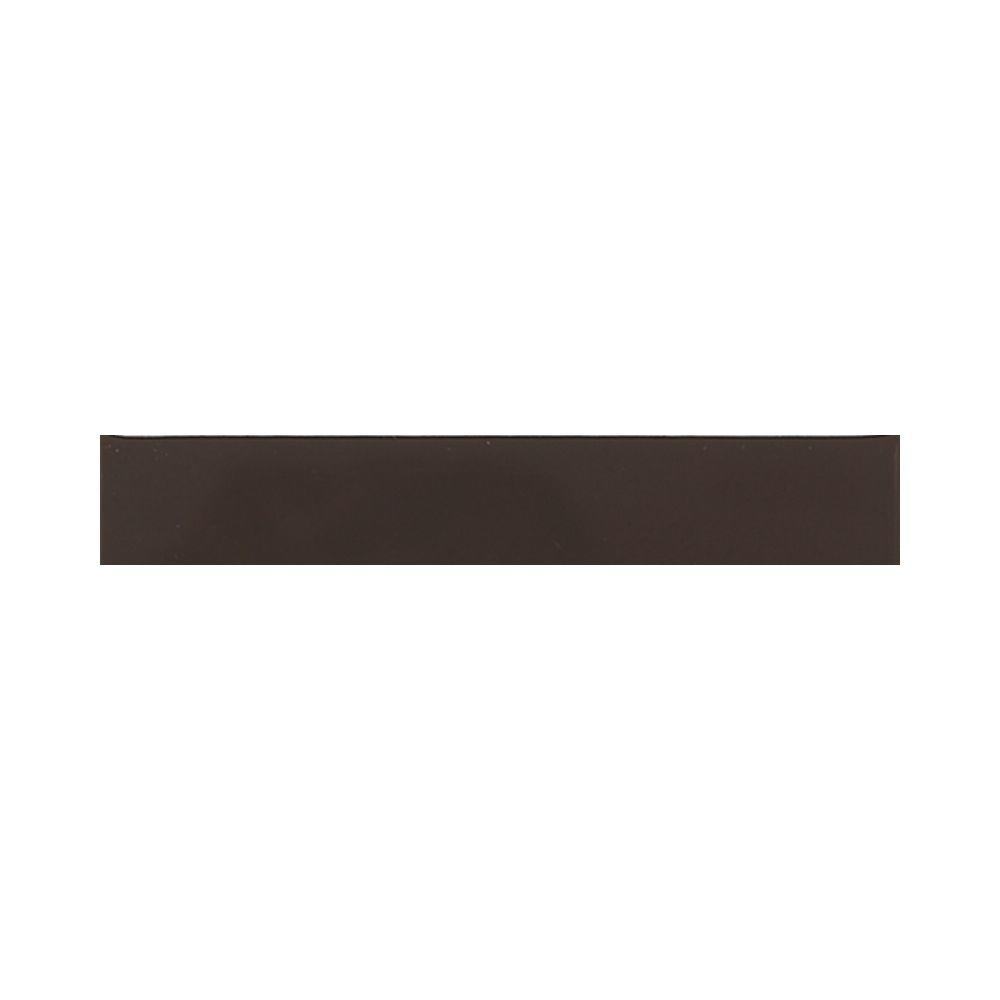 Daltile Liners Cityline Kohl 1 in. x 6 in. Ceramic Liner Wall Tile (0.0417 sq. ft. / piece) This daltile 1 in. x 6 in. Cityline kohl ceramic liner wall tile is constructed from durable ceramic material with a non-vitreous water absorption rating and comes in an attractive color with a glazed finish, a medium sheen and slight variations in tone to provide a stylish aesthetic enhancement for your living space. This corner tile is suitable for installing or renovating an indoor wall or countertop.