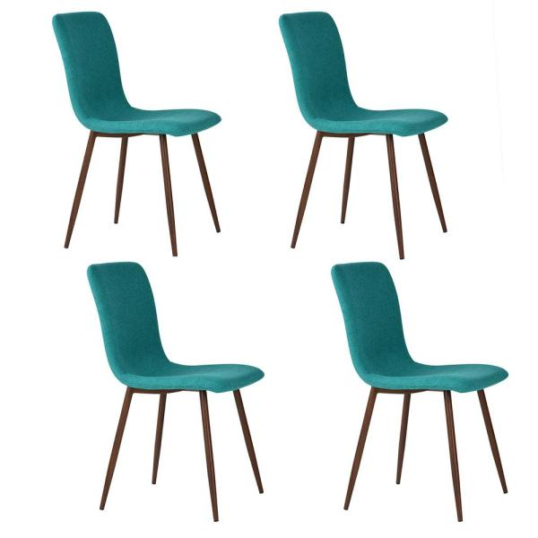 Scargill Green Fabric Dining Chair (Set of 4)