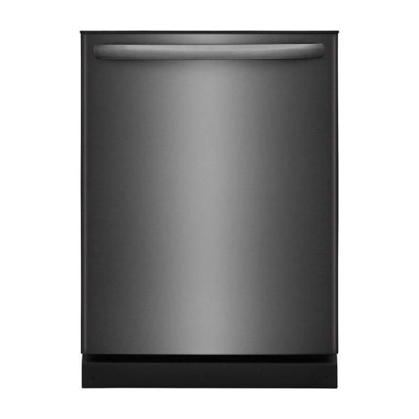 Frigidaire 24 in. Built-In Tall Tub, Top Control Dishwasher in Black Stainless Steel, ENERGY STAR, 54 dBA