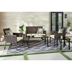 Hampton Bay Park Lane 6-Piece Wicker Conversation Set Deals