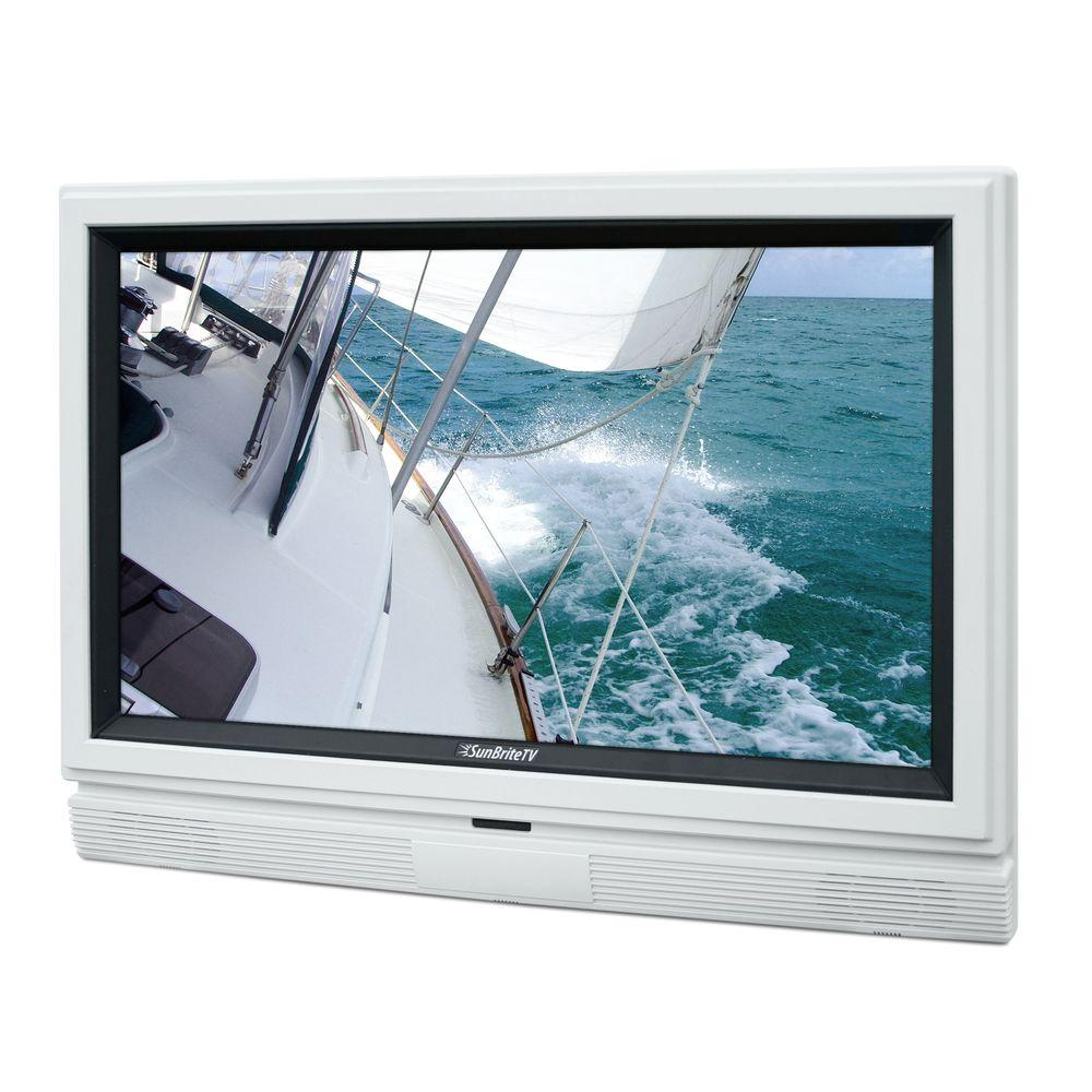 SunBriteTV Signature Series Weatherproof 32 in. Class LCD 720P 60Hz Outdoor HDTV - White-DISCONTINUED