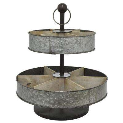 20.75 in. Galvanized Metal Caddy