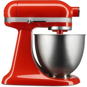 kitchenaid mixer hot pink. artisan mini 3.5 qt. tilt-head hot sauce stand mixer kitchenaid pink