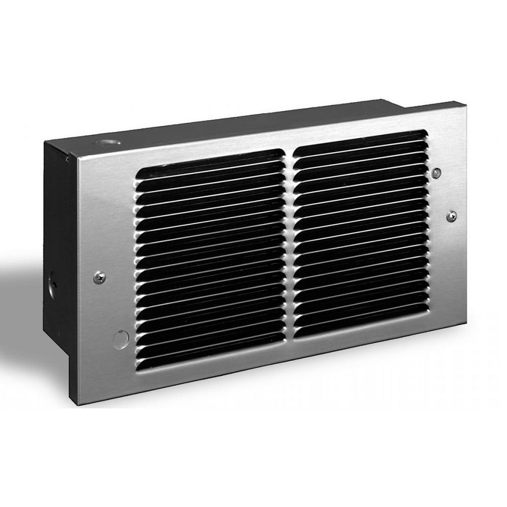 King Electric Paw Stainless Steel 1500-Watt 5118 BTU Electric Wall Heater 120-Volt, Silver