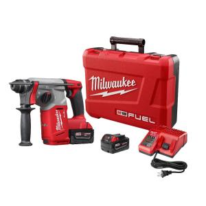 Milwaukee M18 FUEL 18-Volt Lithium-Ion Brushless Cordless 1 inch SDS-Plus Rotary Hammer Kit W/(2) 5.0Ah... by Milwaukee
