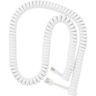 25/' White Coil Telephone Cord Phone Handset Landline Cable Replacement Accessory