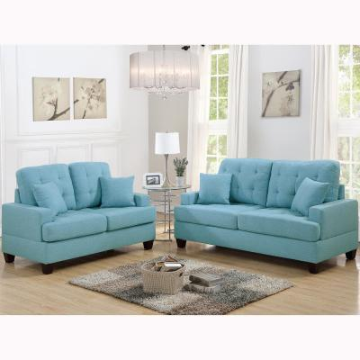 Basilicata 2 Piece Blue Sofa Set