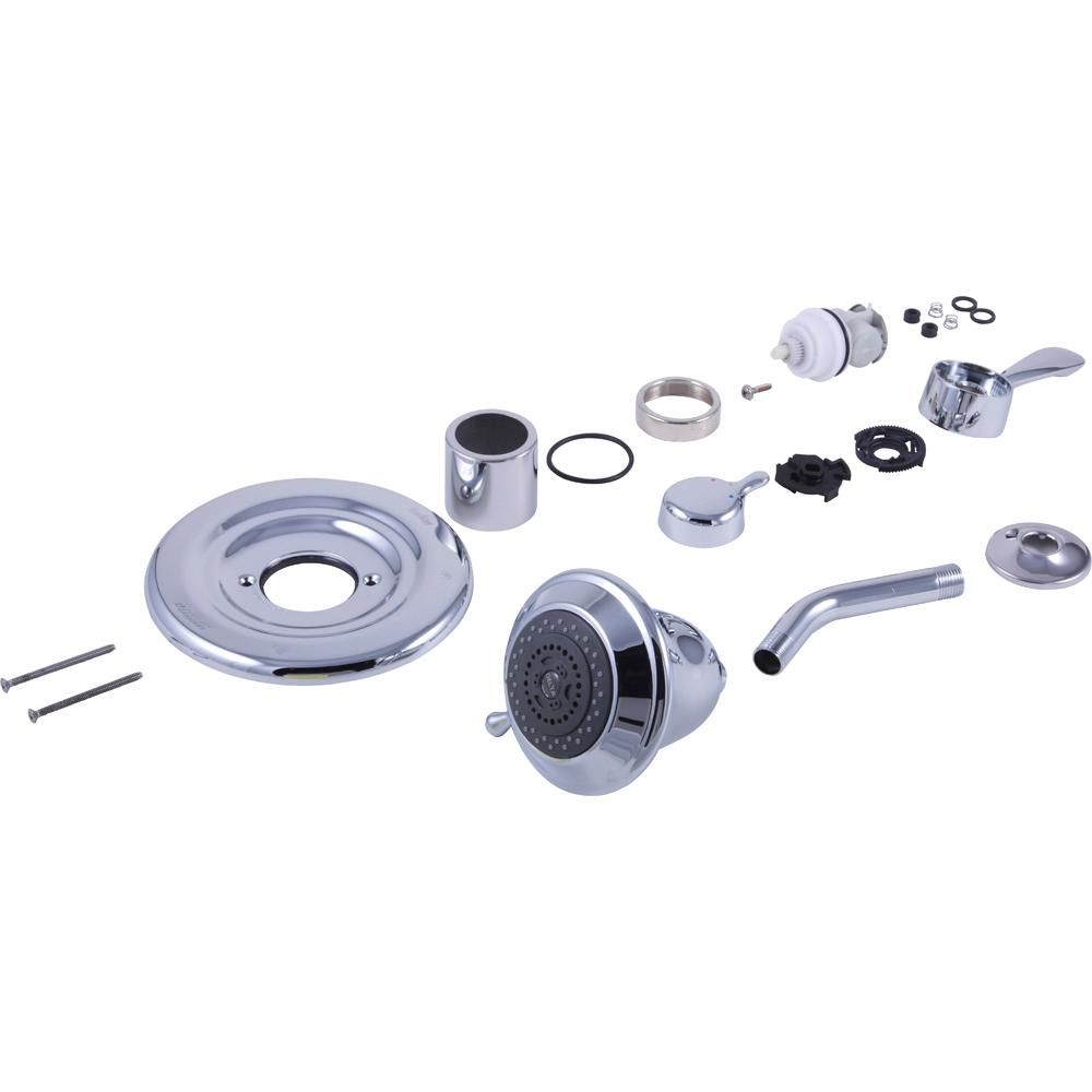 Delta 7 In Shower Conversion Kit In Chrome Rp29405 The