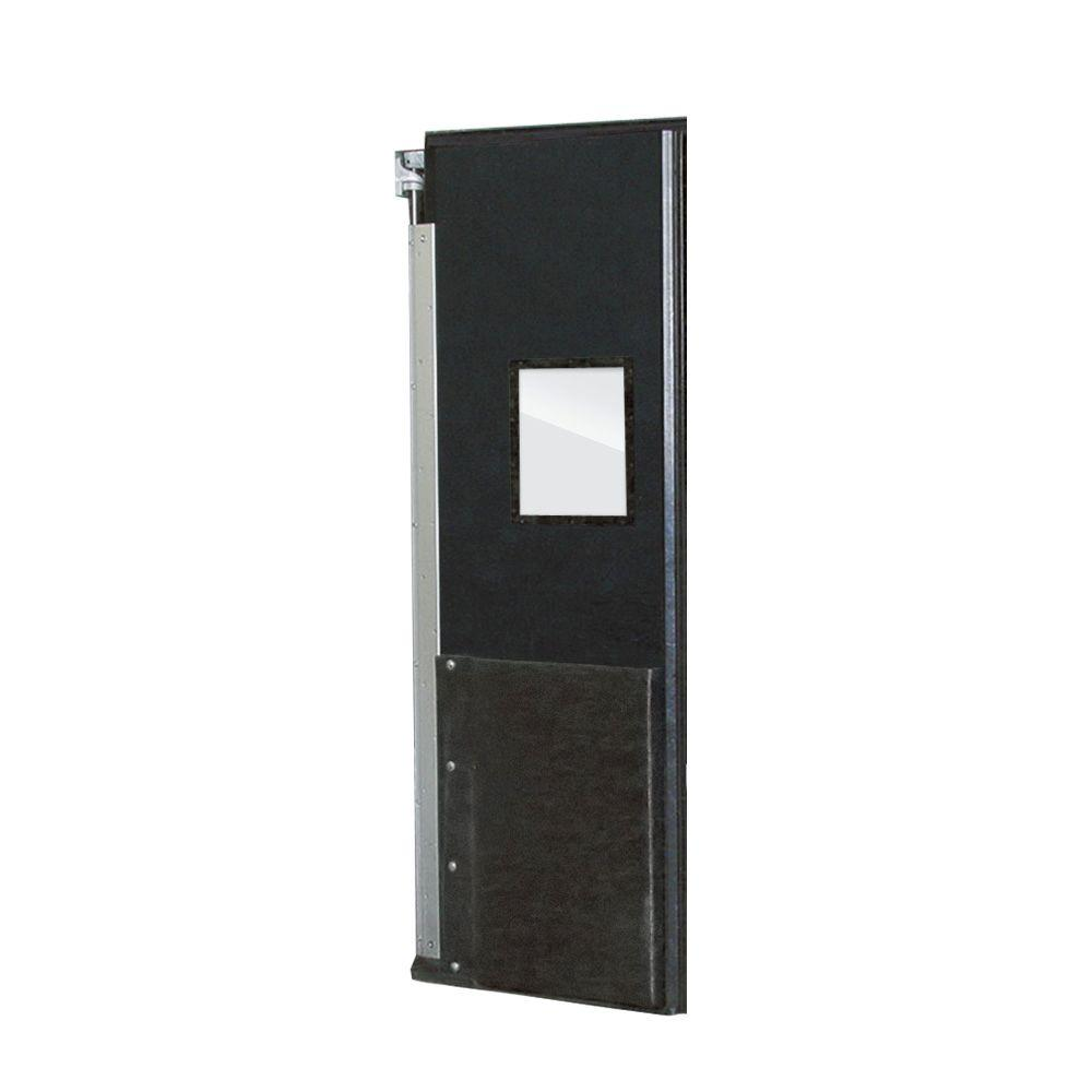 Aleco ImpacDor FD-175 1-3/4 in. x 48 in. x 84 in. Black Impact Door