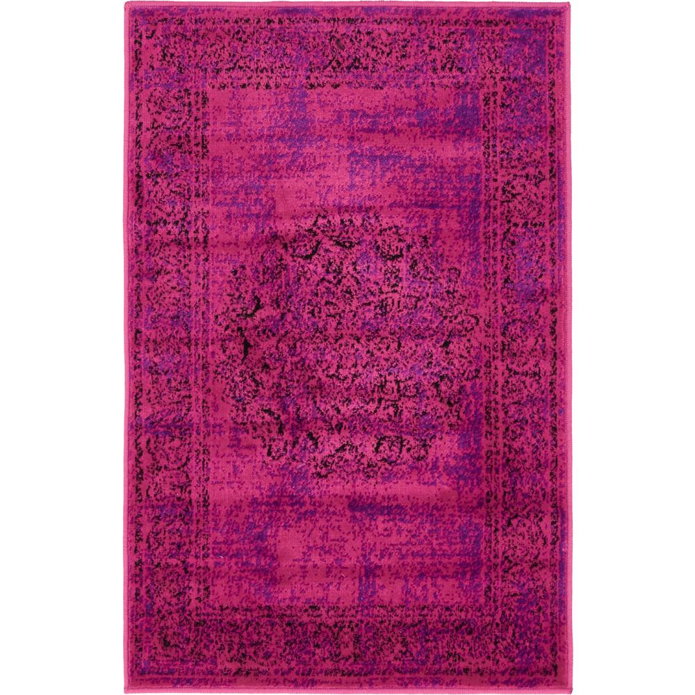 Unique Loom Imperial Cypress Fuchsia 2' 0 x 3' 0 Area Rug