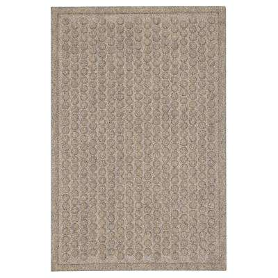 Dots Impressions Chestnut 18 in. x 30 in. Impressions Mat