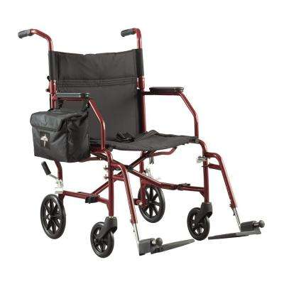 Ultra-Light Steel Transport Wheelchair in Silver
