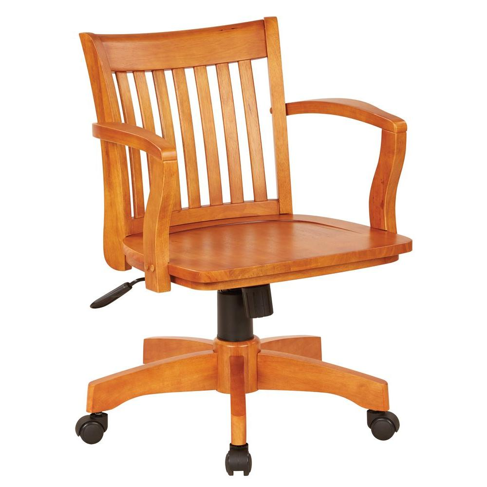 OSPdesigns Deluxe Fruitwood Wood Bankers Chair