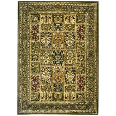 Lyndhurst Multi/Green 8 ft. x 11 ft. Area Rug