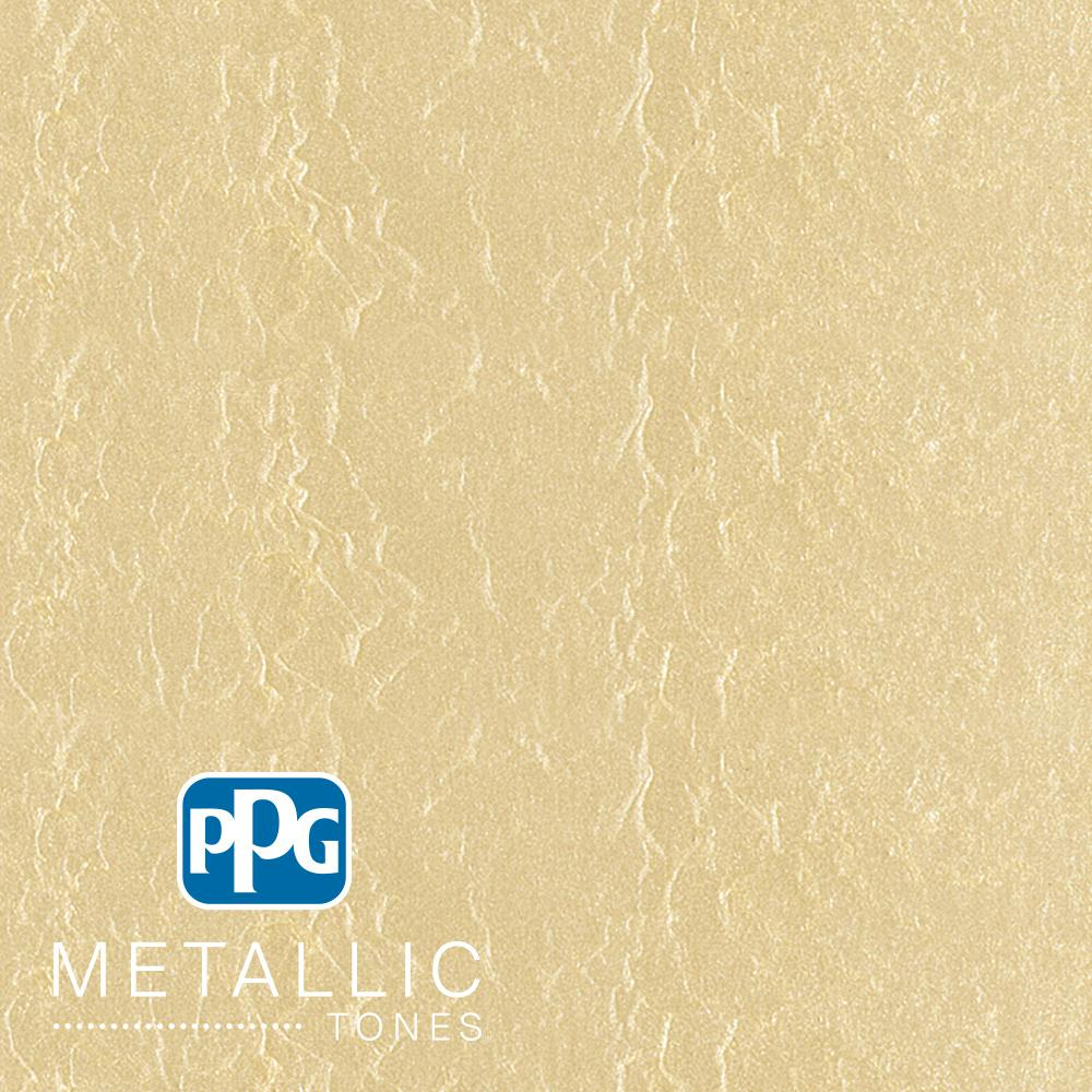 PPGMETALLICTONES PPG METALLIC TONES 1 gal. #MTL132 Frosted Ivory Metallic Interior Specialty Finish Paint, Grey