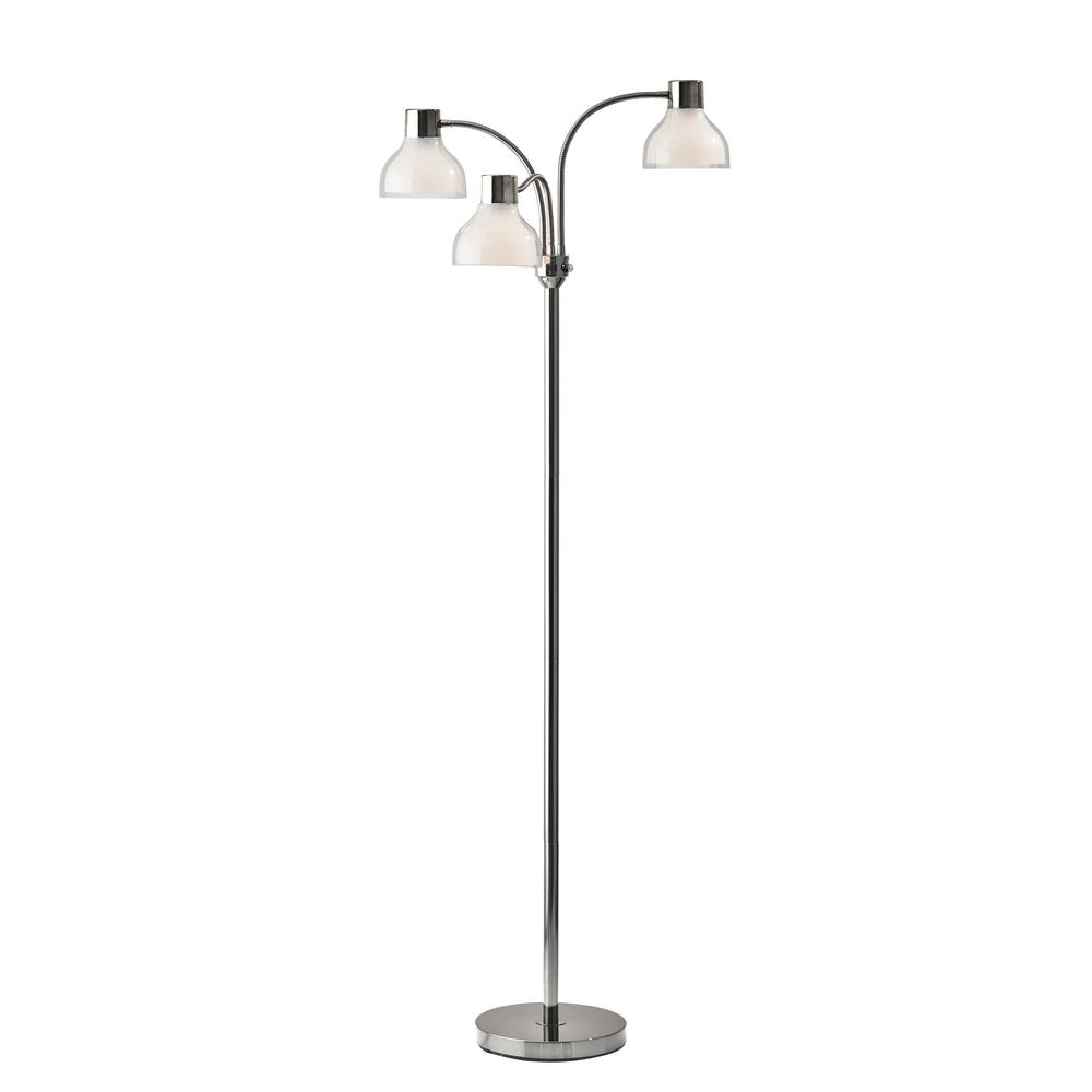 Presley 69 in. Polished Nickel Floor Lamp