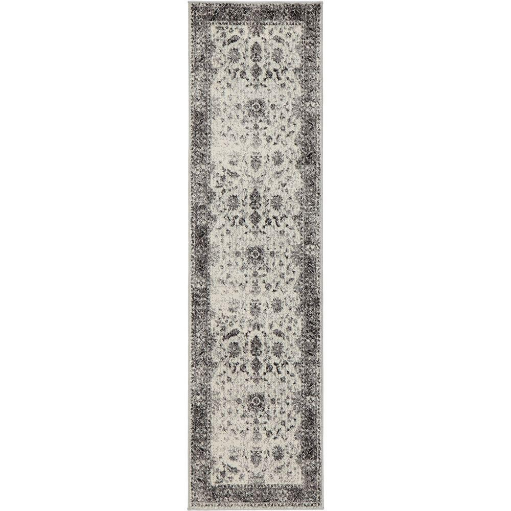 Home Decorators Collection Old Treasures Gray 2 Ft X 7 Ft 3 In Runner 25162 The Home Depot