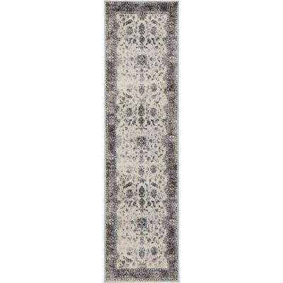 Old Treasures Gray 2 ft. x 7 ft. 3 in. Runner