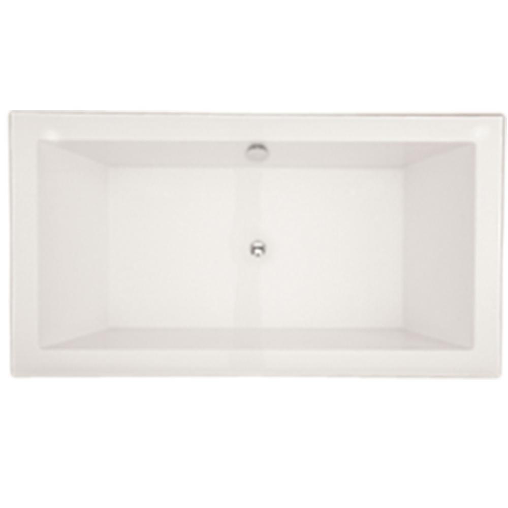 Chagall 6 Ft. Acrylic Flatbottom Non Whirlpool Freestanding Bathtub In White