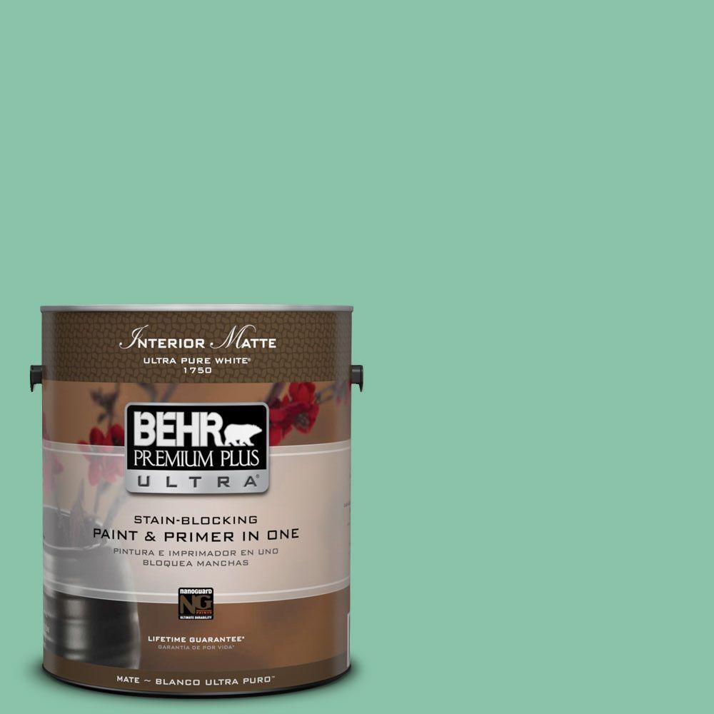BEHR Premium Plus Ultra Home Decorators Collection 1 gal. #HDC-WR14-8 Spearmint Frosting Flat/Matte Interior Paint