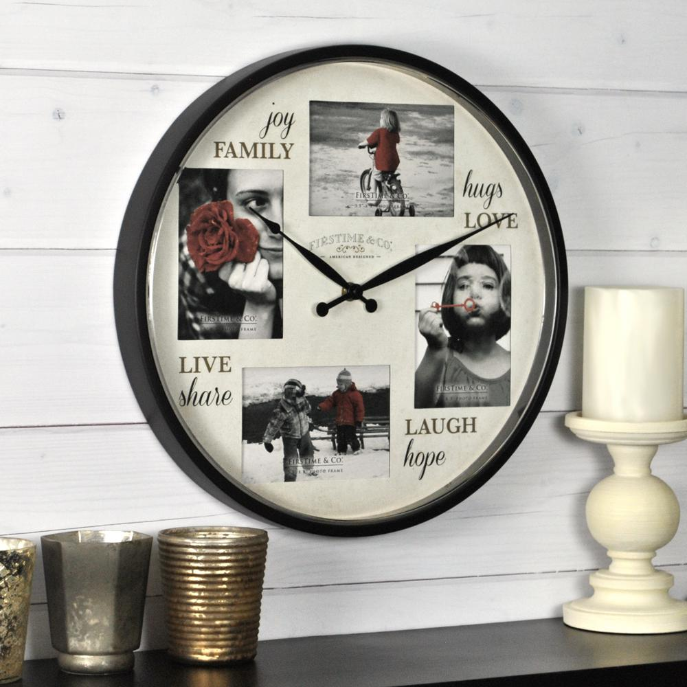 FirsTime Moments Frame Wall Clock-80027 - The Home Depot