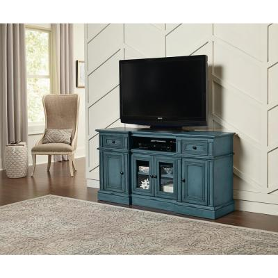 Sullivan 60 in. Aged Blue Entertainment Console