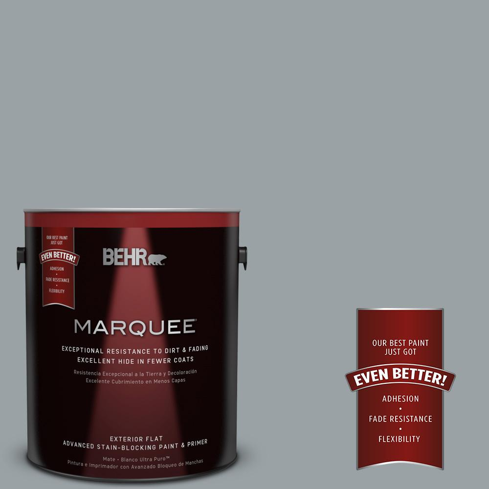 1 gal. #HDC-SM16-02 River Rock Grey Flat Exterior Paint
